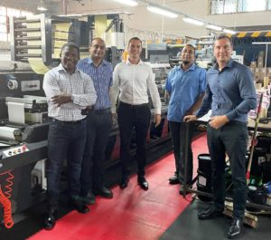 CE Stewart's general manager Nash Soodhoo (second from left) with the Rotocon team of John Lombard, Pascal Aengenvoort, Akhmuth Sayed and Patrick Aengenvoort.