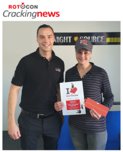 Nicky Swanepoel from Knight Source, our August winner of the I ♥️ ROTOCON Supporter of the Month contest