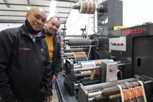 Raymond and Hilton Jacobs with the ECOLINE 340 RFP LED flexo press.